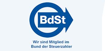 BdSt Logo mit schrägem Hintergrund
