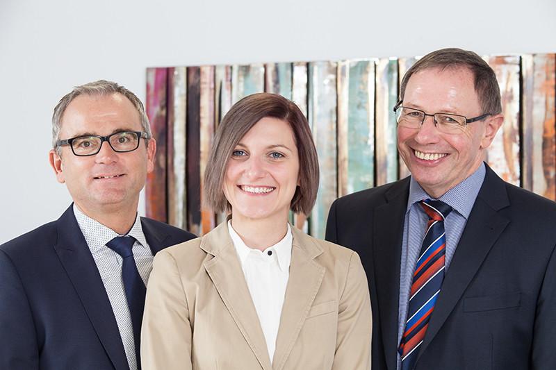 Herr Nolting, Frau Bruns und Herr Klose