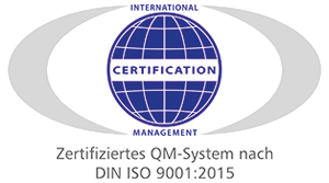 Zertifiziertes QM-System nach ISO 9001:2015
